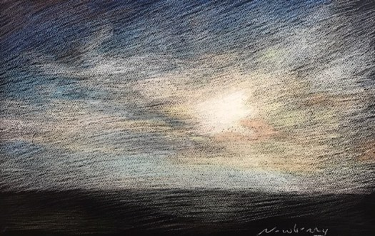 Newberry, Blast of Sky, pastel