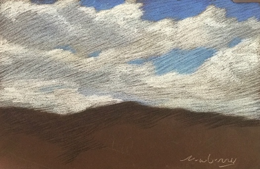 Newberry, Chalky White Clouds, pastel