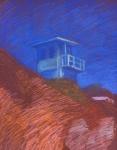 Newberry, Malibu Lifeguard Station, pastel