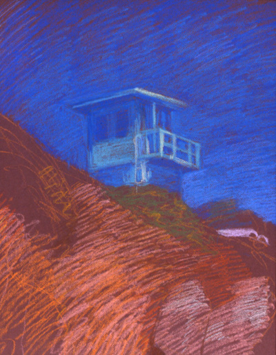 Newberry, Malibu Lifeguard Station, pastel