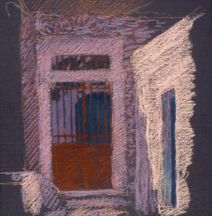 Newberry, Red Gate in Naxos, pastel