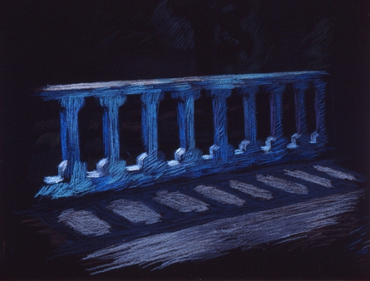 Newberry, Balcony in Rhodes, pastel