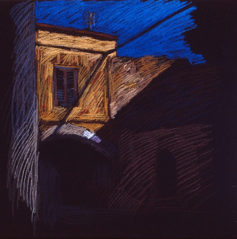Newberry, House Bridge in Rhodes, pastel