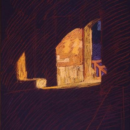 Newberry, Defense Gate in Rhodes, pastel