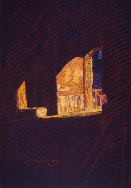Newberry, Defense Gate in Rhodes, pastel