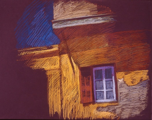 Newberry, Window Shutter in Rhodes, pastel