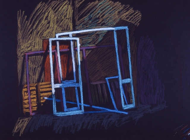 newberry, window frames, pastel