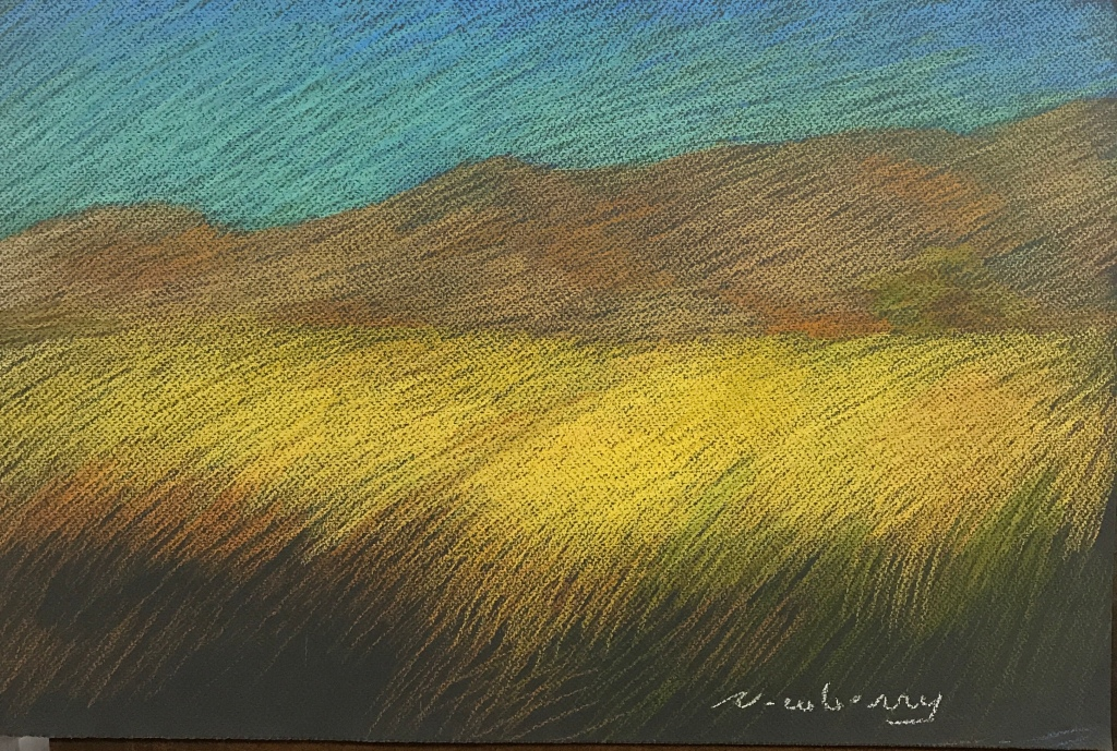 Newberry, Field of Gold, pastel