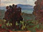 """Newberry, Cacti, 2006, oil on panel, 8x10"""""""