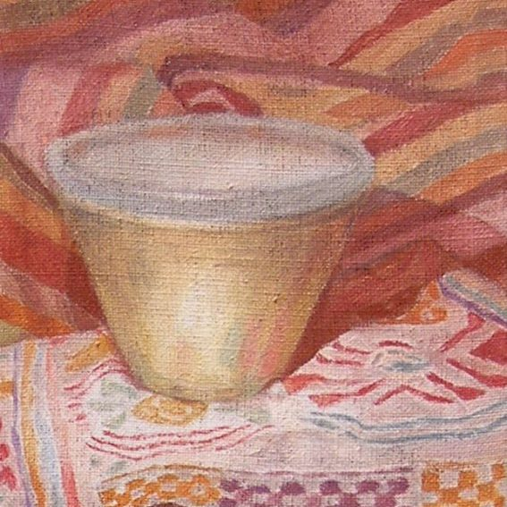 Newberry, Bowl with Sienna Shadows, 2017, oil on linen, 10x8""