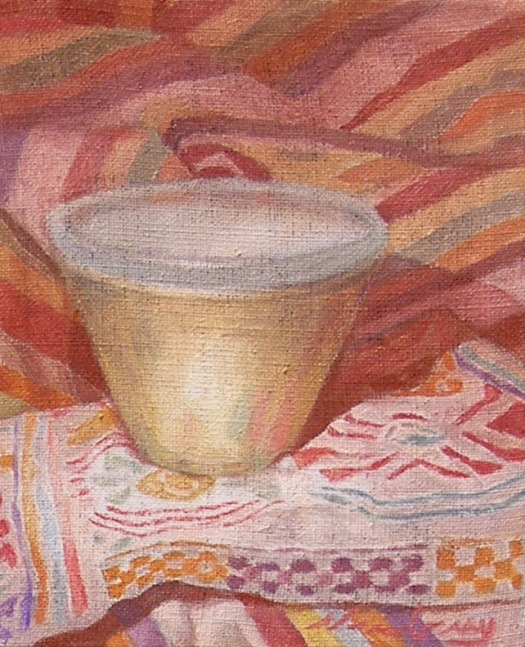 Newberry, Bowl with Sienna Shadows, oil on linen, 10x8""