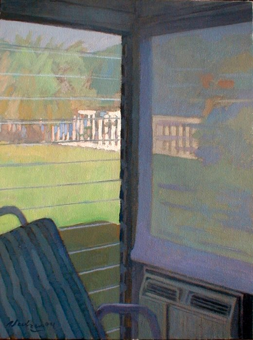 Newberry, Sun Room Corner, 2004, oil on canvas, 18x12""