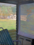 "Newberry, Sun Room Corner, 2004, oil on canvas, 18x12"""