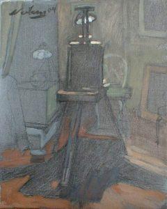 """Newberry, Easel Daytime, 2004, acrylic on panel, 12x9"""""""
