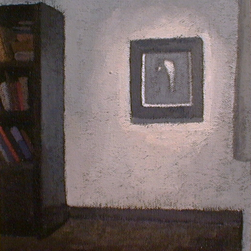 Newberry, Rhodes Hallway 2, 1997, acrylic on panel, 12x9""