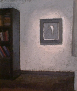"Newberry, Rhodes Hallway 2, 1997, acrylic on panel, 12x9"""