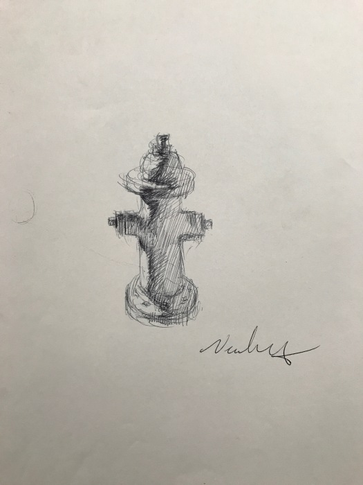 Newberry, Ode to Duchamp, ink, 10x8""