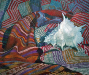 Newberry, White Spike, 2010, oil on canvas, 18x24""