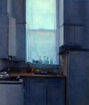 """Newberry, Staten Island Kitchen, 1993, oil on canvas, 16x12"""""""