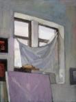 "Newberry, Williamsburg Loft Gray, 2007, oil on panel, 12x9"""