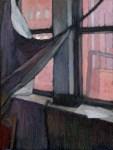 "Newberry, Williamsburg Loft Scarlet, 2007, oil on panel, 12x9"""