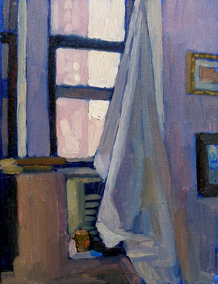 Newberry, Williamsburg Loft Violet, 2007, oil on canvas, 12x9""