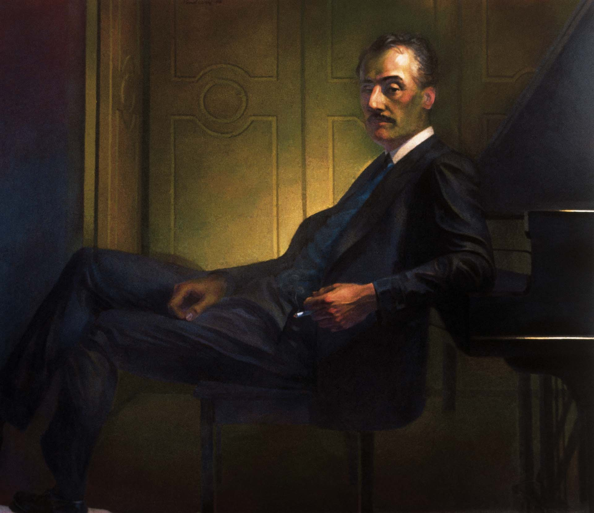 Newberry, Puccini, oil on linen, 60x70""