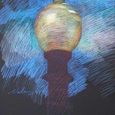 Newberry, Santa Monica Lamp, pastel