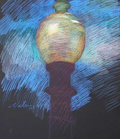 Newberry, Santa Monica Lamp, pastel