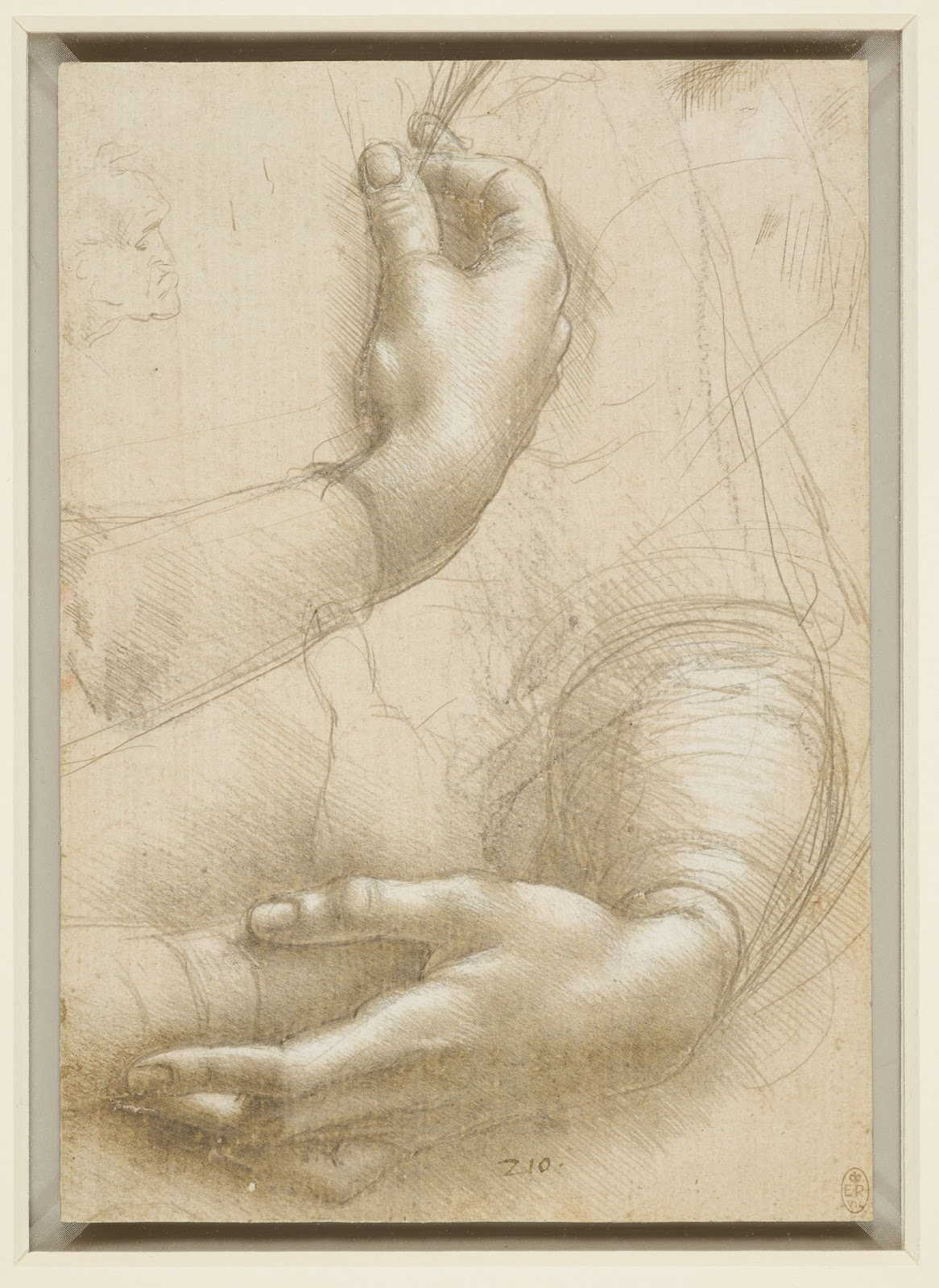 da Vinci, study of hands