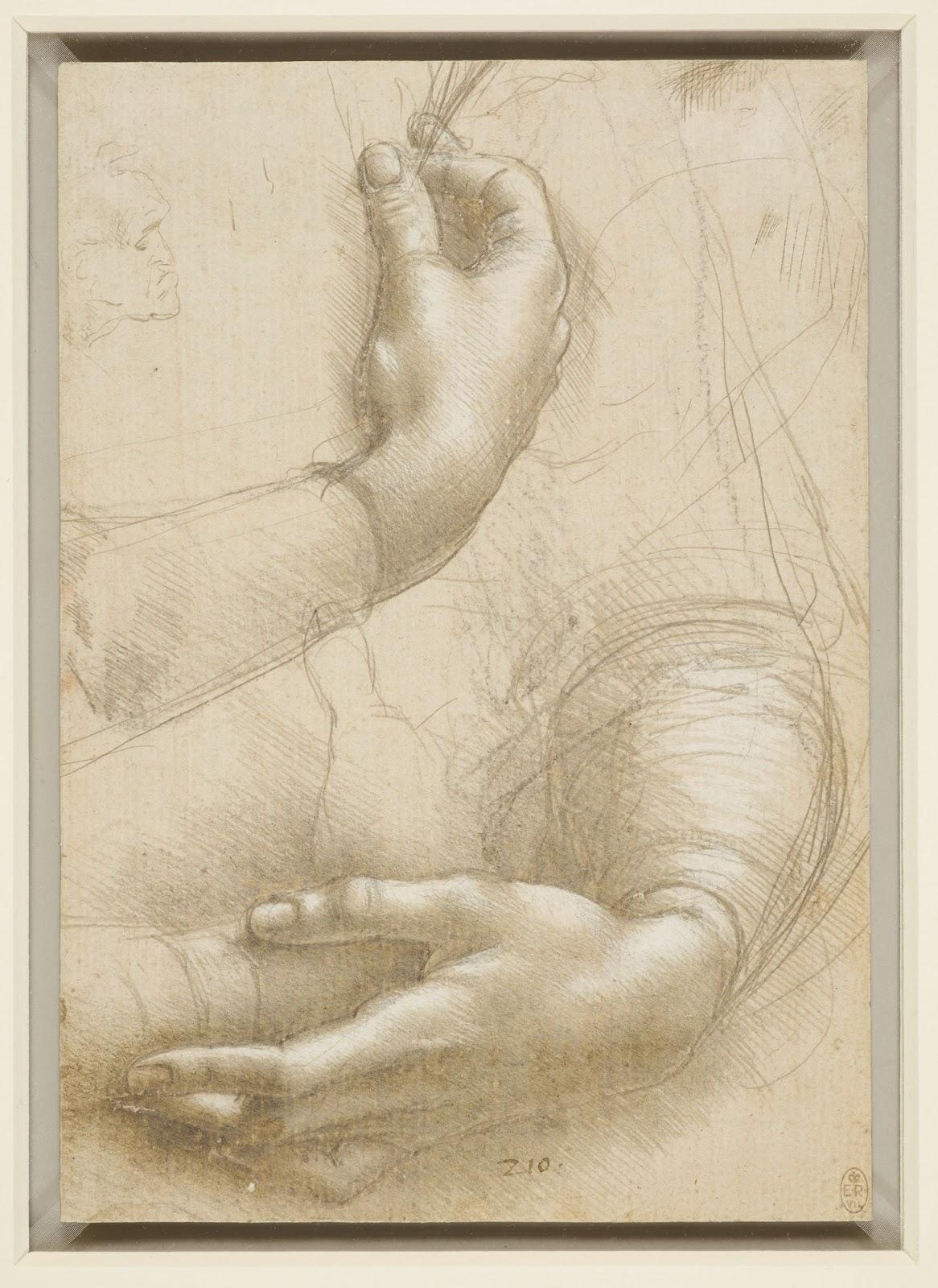 da Vinci, study of hands
