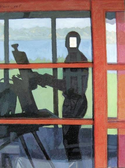 "Newberry, Light Box, 2005, oil on panel, 12x9"""