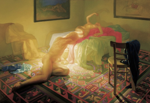 Newberry, Denouement, 1987, oil on linen, 54x78""