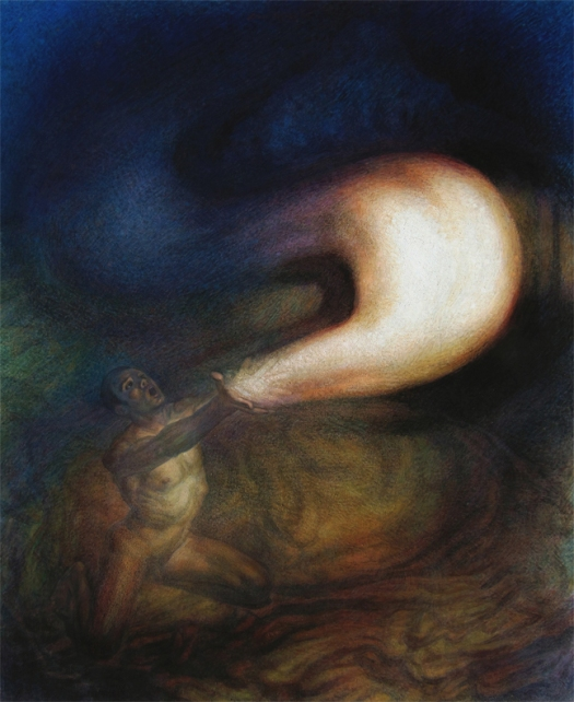 Newberry, God Releasing Stars Into the Universe or The Gift, 1999, oil on linen, 82x60""