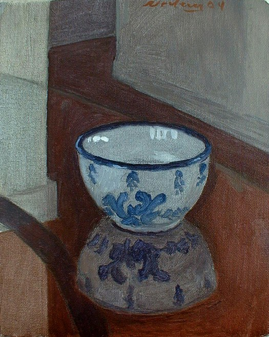 Newberry, Bowl, 2004, oil on canvas, 12x9""