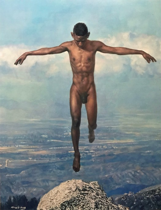 Newberry, Idyllwild Icarus, 2017, oil on canvas, 60x48""