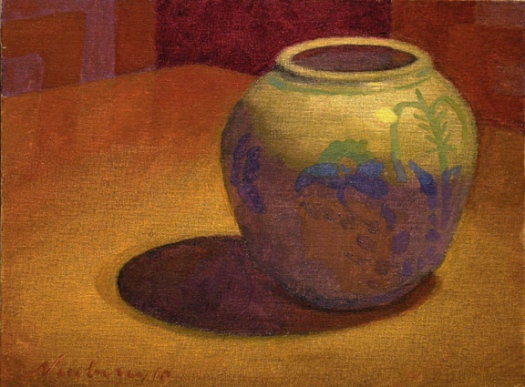 "Newberry, Jar, 2016, oil on panel, 9x12"""