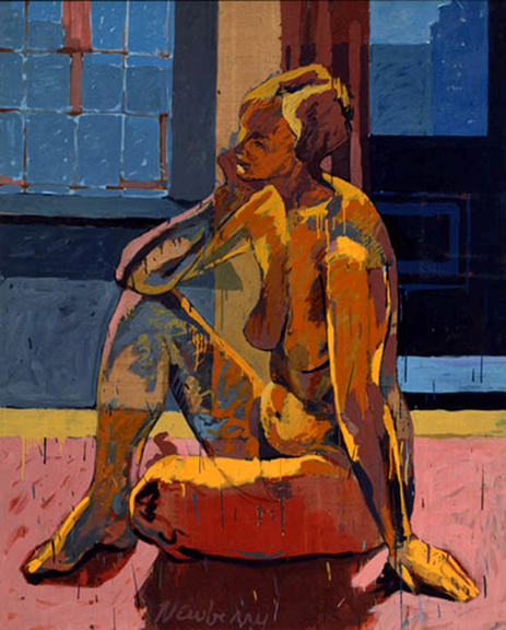 Newberry, Jette, 1977, oil on linen, 48x38""