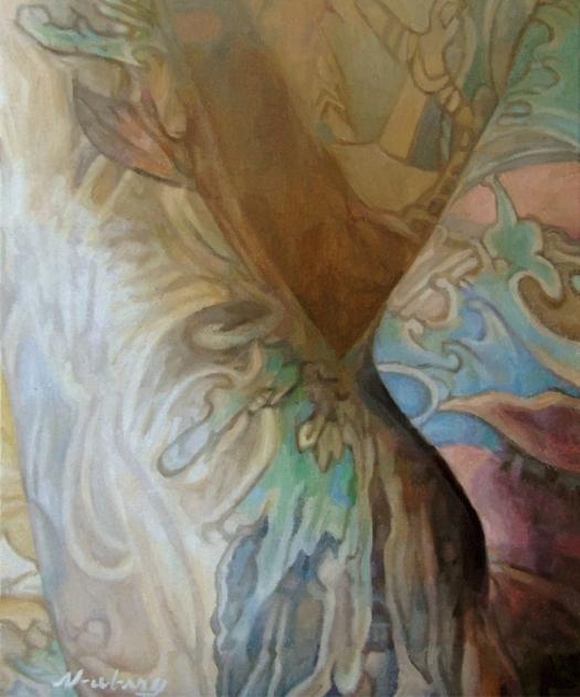 "Newberry, Tats 2, 2017, oil on canvas, 24x20"""