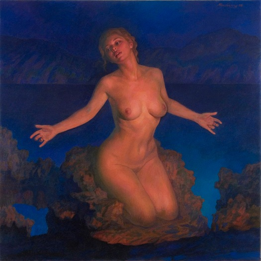 Newberry, Venus, 2008, oil on linen, 48x48""