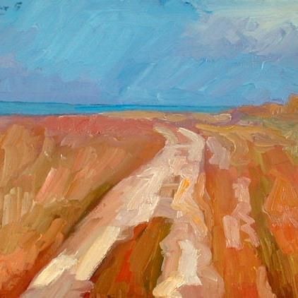 "Newberry, Forte De Soto, 2005, oil on panel, 9x12"""