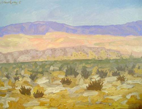 Newberry, Borrego Springs 2005, oil on panel, 9x12""