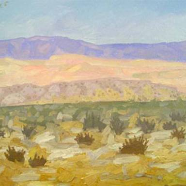"Newberry, Borrego Springs 2005, oil on panel, 9x12"""