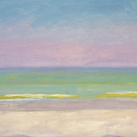 """Newberry, Yellow Wave, 2005, oil on panel, 16x12"""""""