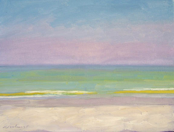 Newberry, Yellow Wave, 2005, oil on panel, 16x12""