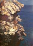 "Newberry, Rhodes Rocks, 2008, oil on panel, 12x9"""