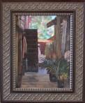 "Newberry, Nancy's Yard, oil on panel, 12x9"""