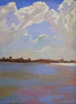 Newberry, Clouds, 2005, oil on panel, 12x9""