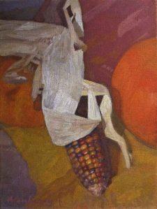 "Newberry, Corn, 2011, oil on panel, 12x9"""
