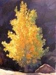 """Newberry, Golden Leaves, 2008, oil on panel, 12x9"""""""